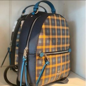 Coach Bags - Coach Checkered Backpack
